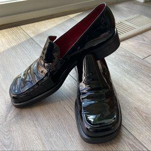 Franco Sarto Black Bocca Patent Leather Loafers